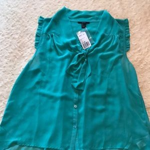 Forever 21 Mint Chiffon Sleeveless Blouse, New